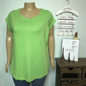Isaac Mizrahi Live Essentials Bright Green T-shirt